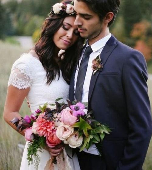 Венок из живых цветок – для особенной невесты!