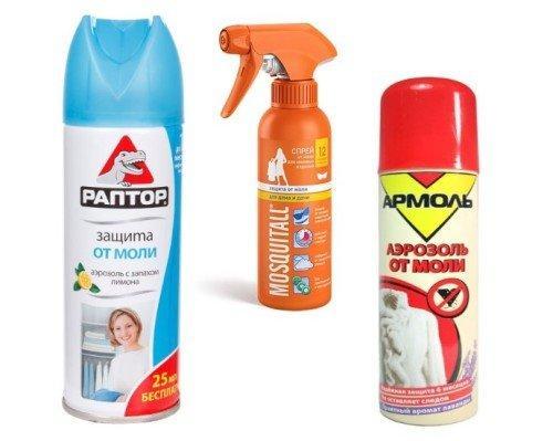 Как в домашних условиях избавиться от моли. Химические средства против моли
