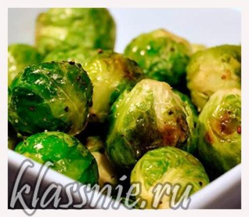 Рецепт брюссельской капусты на сковороде. Жареная брюссельская капуста с черным перцем