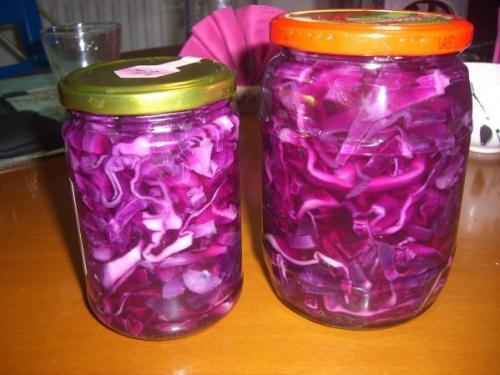 Зимний салат из краснокочанной капусты. Заготовка салатов из краснокочанной капусты на зиму
